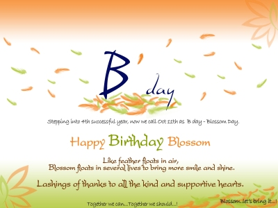 Birthday to my DREAM, my VISION (Blossom)